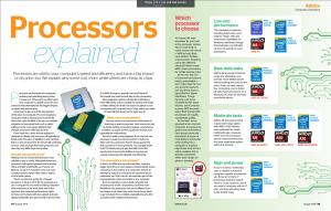 Double processors spread from Which? Computing